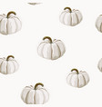 seamless autumn pattern with white pumpkins vector image vector image