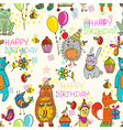 seamless hedge birthday vector image vector image