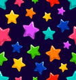 Seamless pattern with colorful star vector image