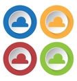 set of four icons - cloud cloudy vector image vector image