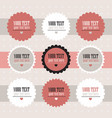 set of retro style labels vector image
