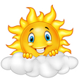 Smiling Sun Cartoon Mascot Character vector image