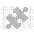 stencil of puzzle pieces vector image vector image