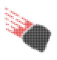 stone meteorite halftone dotted icon vector image