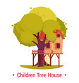 structure or building on tree for kids playhouse vector image vector image