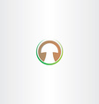 stylized mushroom logo design vector image vector image