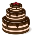 Tasty chocolate cake vector image vector image