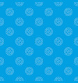 tourist compass pattern seamless blue vector image