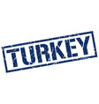 turkey blue square stamp vector image vector image