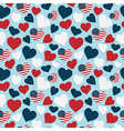 usa heart pattern vector image vector image
