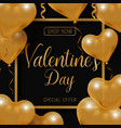valentine s day big sale offer modern fashion vector image vector image
