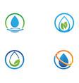 water drop logo template design vector image vector image