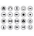 web audio icon set vector image vector image