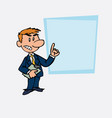 white businessman decided somewhat angry vector image vector image