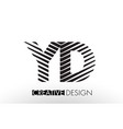 yd y d lines letter design with creative elegant vector image vector image