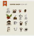 Coffee shop icons set vector image