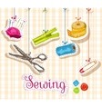 Sewing sketch composition vector image
