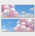 3d paper cut of 3d glossy pink and vector image vector image