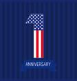 anniversary1usa vector image