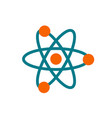 atom icon - chemistry science symbol vector image
