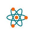 atom icon - chemistry science symbol vector image
