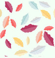 autumn leaves pattern colorful leaves vector image