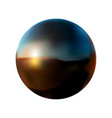 Black ball with reflection on a white isolated