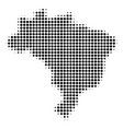 brazil map halftone icon vector image