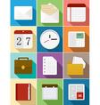 Business flat icons set design