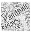 BWPB master playing paintball Word Cloud Concept vector image vector image