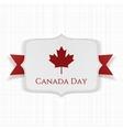 Canada Day patriotic Label with Ribbon vector image vector image