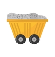 cart train mining full mineral vector image