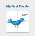 cartoon bird puzzle template for children vector image vector image