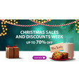 christmas sales and discount week up to 70 off vector image