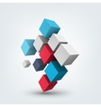 Composition of 3d cubes vector image