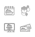 cruise linear icons set vector image vector image