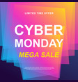 cyber monday sale trendy web banner vector image vector image
