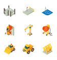 formation icons set isometric style vector image