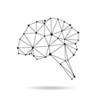 Geometric brain design silhouette vector image vector image