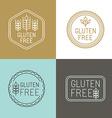 gluten free badges vector image vector image
