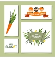 greeting cards for Jewish holiday Sukkot vector image vector image
