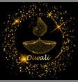 happy diwali deepavali light and fire festival vector image