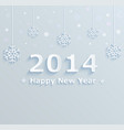 happy new year 2014 festive background vector image vector image