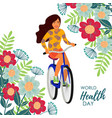 healthy lifestyle with girl vector image vector image