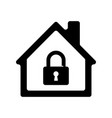 house icon with padlock vector image vector image