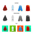 isolated object of material and clothing symbol vector image