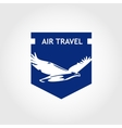 logo air travel company Tourist trip The vector image vector image