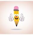 Mascot pencil character vector image vector image