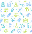 medicine symbols and signs pattern background vector image
