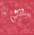 merry christmas seamless vector image vector image